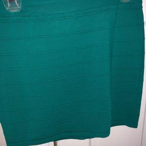 Turquoise green skirt